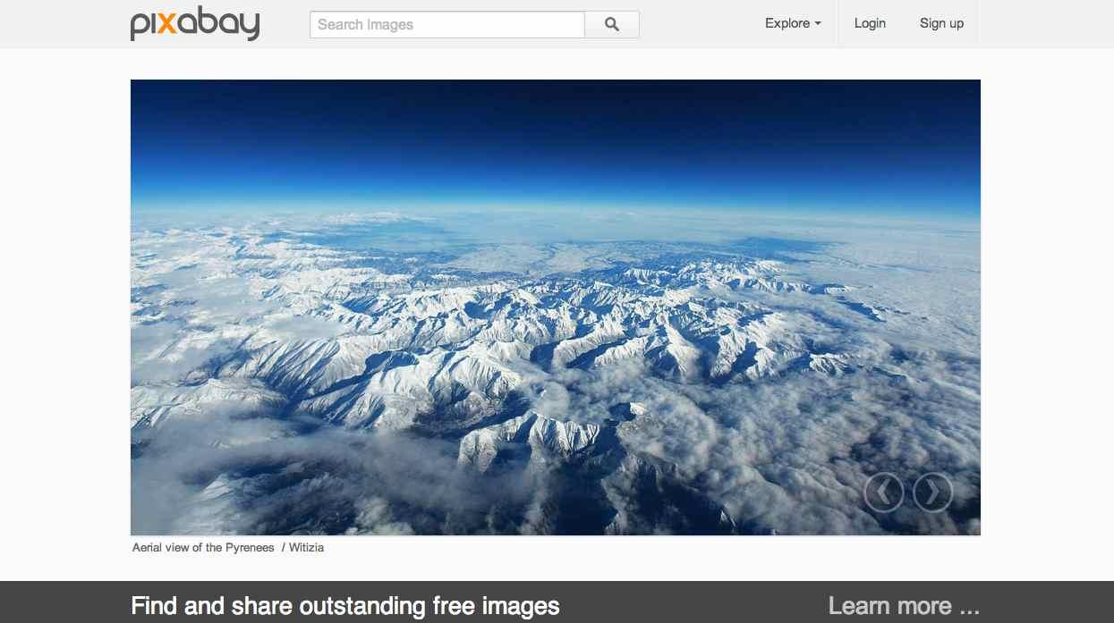 Screenshot of Pixabay.com