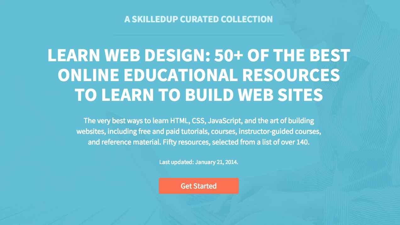 Screenshot of SkilledUp's web design list