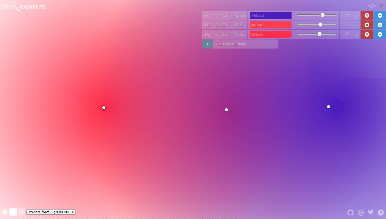 Screenshot of draGGradients