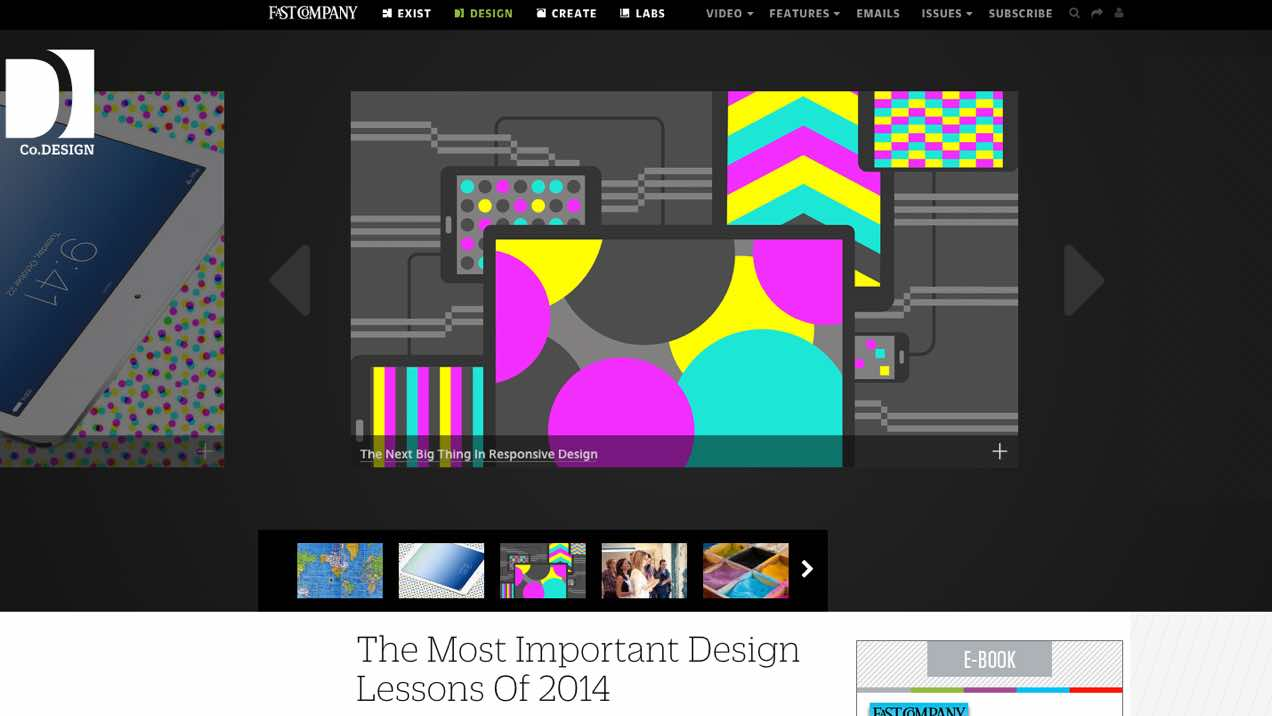 Screenshot of 2014 design lessons blogpost at Co.Design