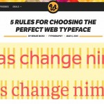 Screenshot of 5 Rules of Typography blogpost