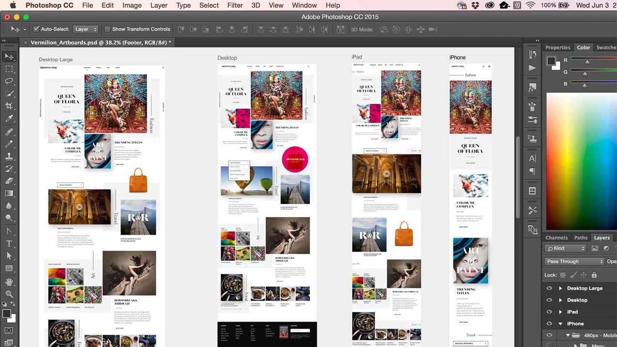 Photoshop artboards preview