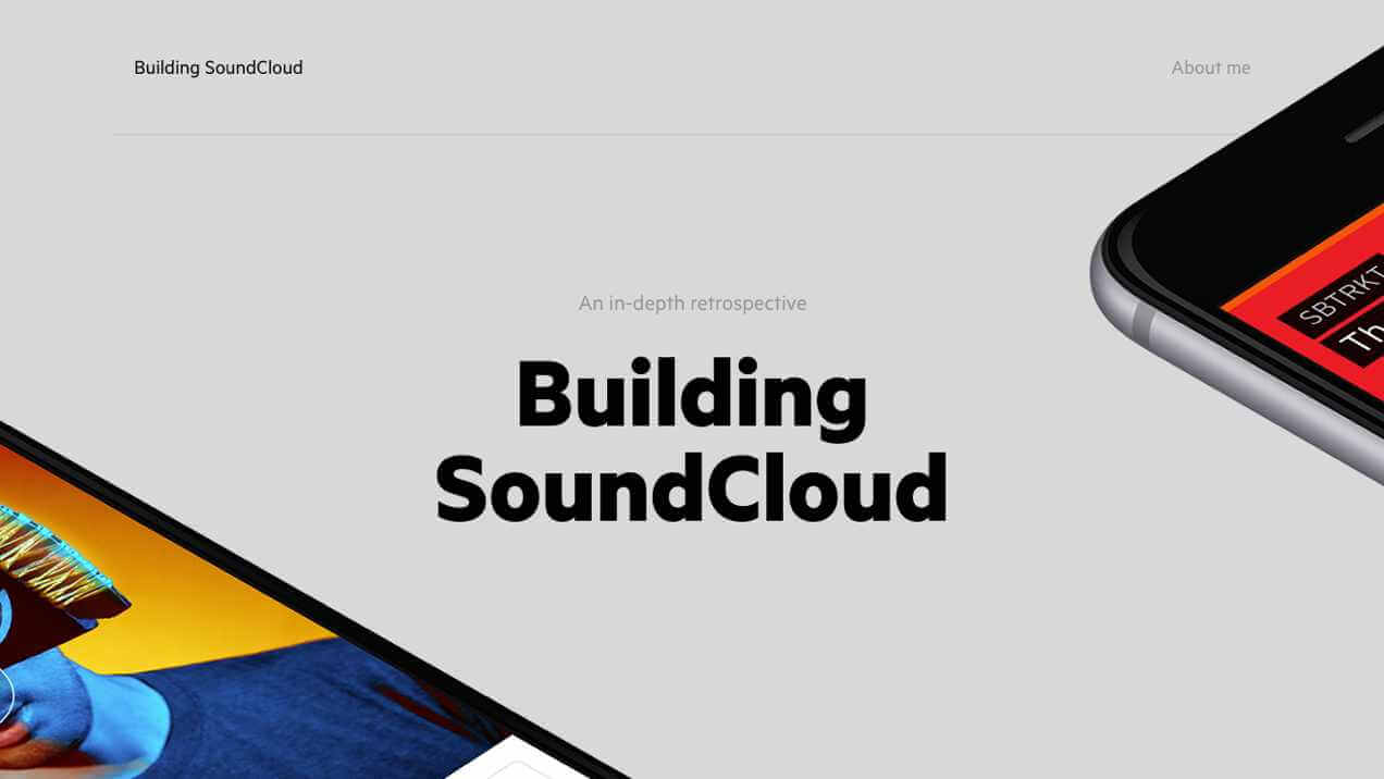 Screen Shot of Soundcloud case study