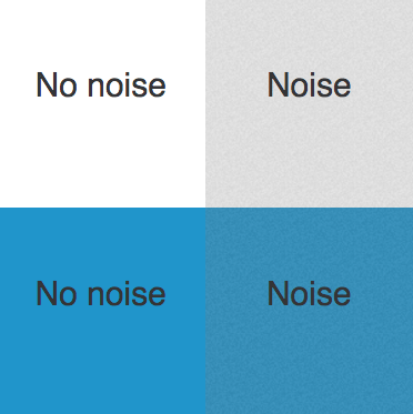 screenshot of codepen CSS Noise