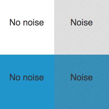 screenshot of codepen CSS Noise