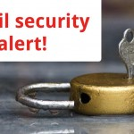 Gmail security alert with photo of opened lock and key