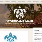 Screenshot of WordCamp Maui website