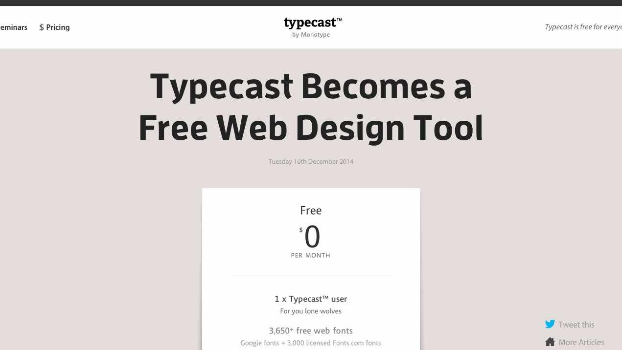 Typecast is Free
