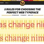 Screenshot of 5 Rules of Typography blogpost