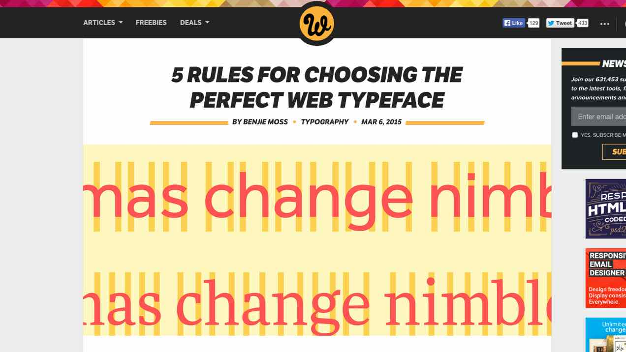 Picking a Web Font