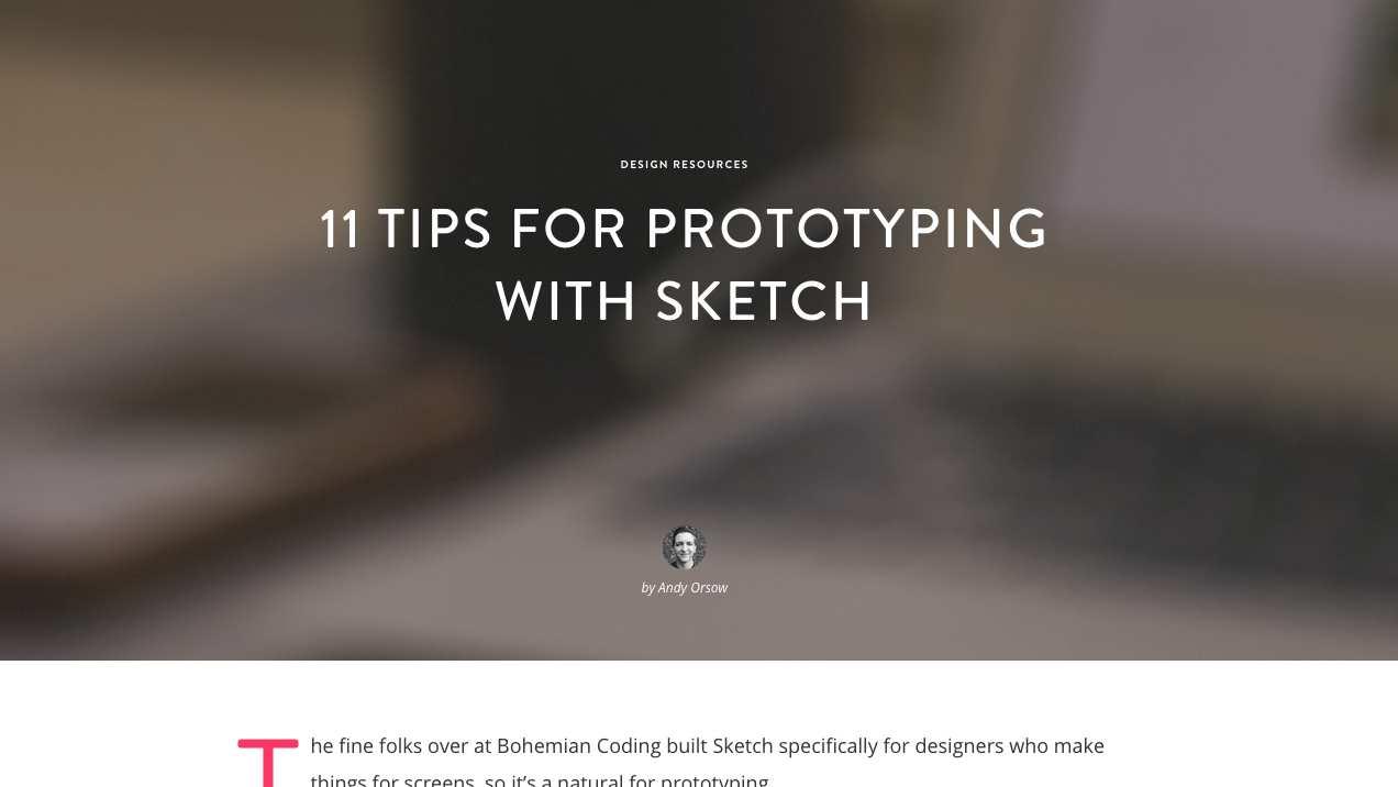Sketch Tricks for Better Workflow