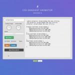 Screenshot of CSS Gradient Animator website