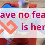 Screenhero message with superhero action figure