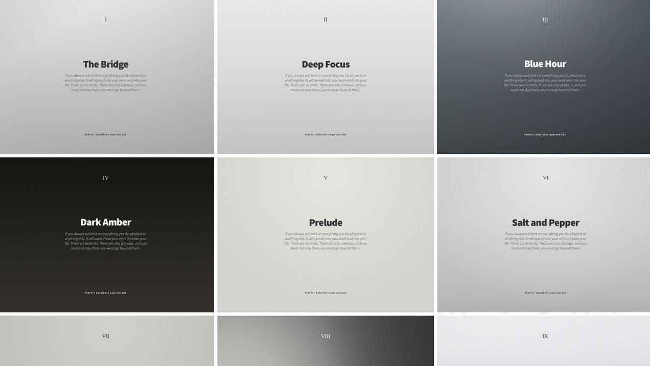Lovely Pack of Neutral Gradients